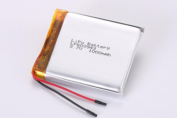 3.7V Rechargeable LiPo Batteries LP603943 1000mAh 3.7Wh