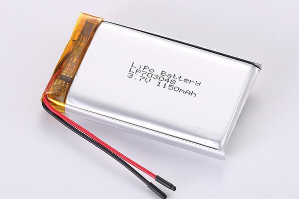 3.7V Rechargeable LiPo Batteries  LP703048 1150mAh 4.255Wh