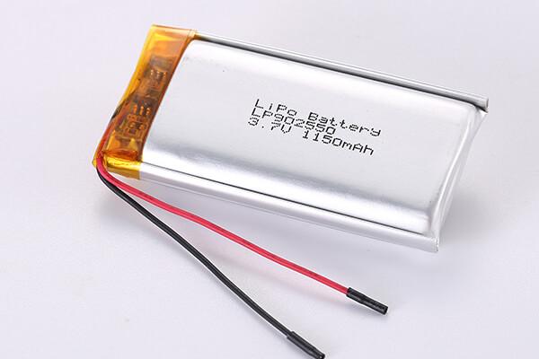3.7V Rechargeable LiPo Batteries LP902550 1150mAh 4.255Wh