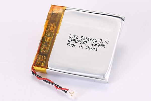 3.7V Rechargeable LiPo Batteries With JST ACHR-02V-S-B LP503030 430mAh 1.591Wh