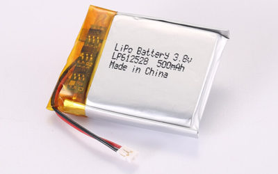 3.7V Rechargeable Hot Selling LiPo Batteries With JST ACHR-02V-S LP612528 500mAh 1.85Wh