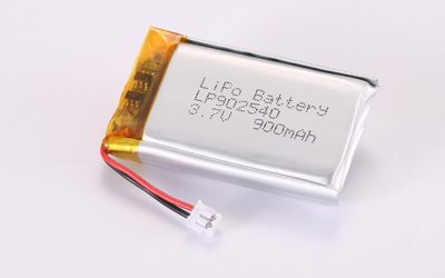 3.7V Rechargeable LiPo Batteries With JST ZHR-2 LP902540 900mAh 3.33Wh