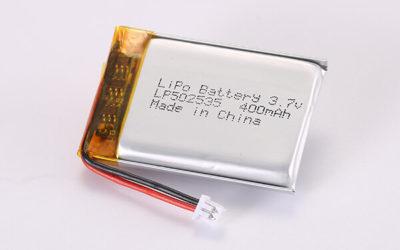 3.7V Rechargeable LiPo Batteries With Molex 51021-0200 LP502535 400mAh 1.48Wh