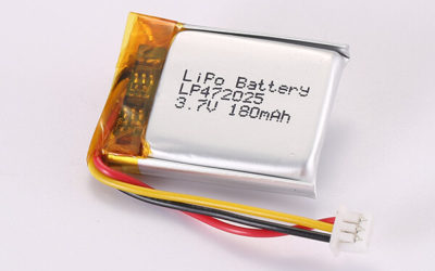 Hot Selling Rechargeable LiPo Batteries With Molex 51021-0300 LP472025 180mAh 0.67Wh
