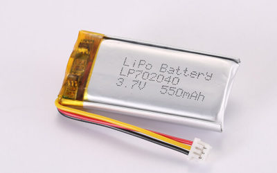 3.7V Rechargeable Hot Selling LiPo Batteries With Molex 51021-0300 LP702040 550mAh 2.035Wh